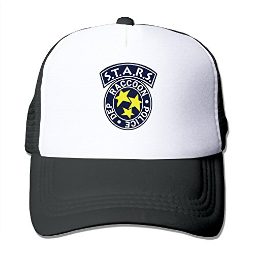 Resident Evil S.T.A.R.S. Logo Snapback Mesh Hats Caps Adult Adjustable Black
