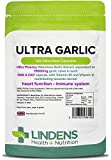 Lindens Ultra Garlic 15,000mg Capsules | 120 Pack | Most potent odourless garlic extract on the market contributes to normal immune stem & heart health, absorption of calcium, contains Vitamin B1 & D3
