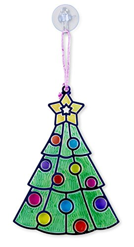 Melissa doug stained glass made easy craft kit santa for Santa glasses for crafts