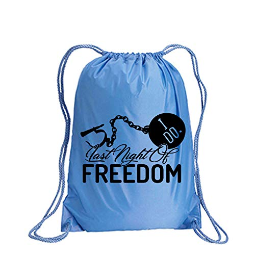 Last Night Of Freedom Cinch Pack in Light Blue - Large 17x20