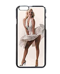 SUUER Marilyn Monroe Custom Plastic Hard CASE for iPhone 6 - 4.7 inches Durable Black Case Cover