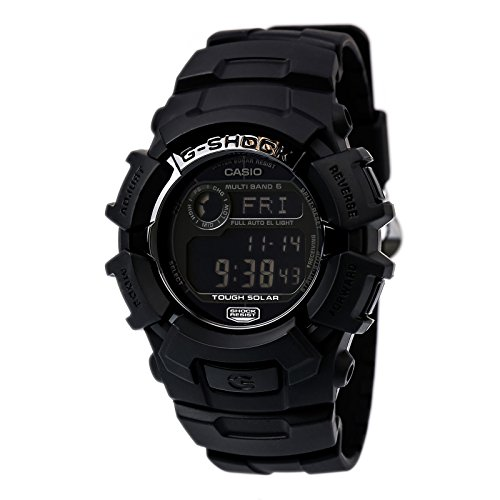 Casio G-Shock Multi-Band 6 Atomic-Solar Black Reverse LCD GW