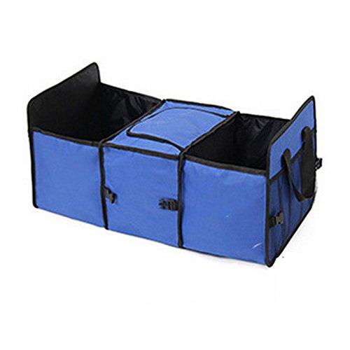 Oxford tela plegable coche camión Organizador Caja de almacenamiento con Cooler Bag Bolsas De Tidy–Bolsa de...