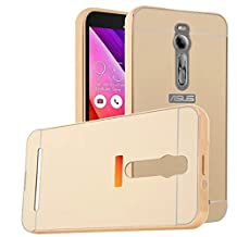 MYLB Asus ZenFone 2 ZE550ML/ZE551ML Case, Luxury Frame + Hard Back Case 2 in 1 cover Ultra-Thin Frame Case for Asus ZenFone 2 ZE550ML/ZE551ML Smartphone (Gold)