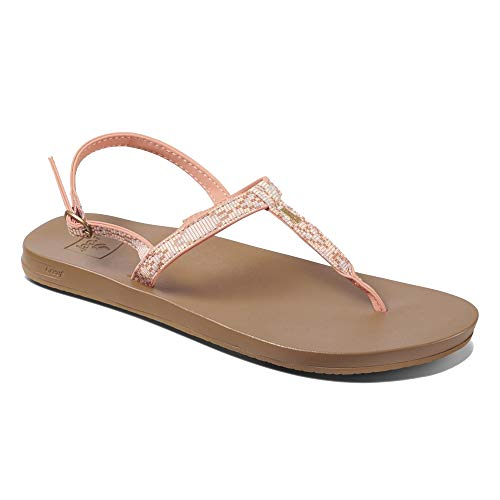 Reef Women's Cushion Bounce Slim T Sandals, Coral Beads (CBD), 10 ()