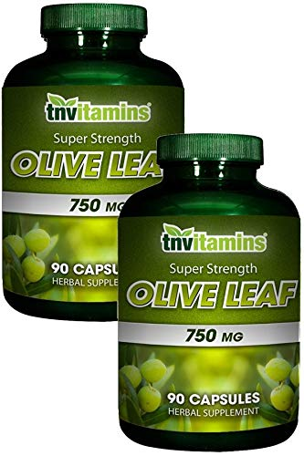 Olive Leaf Extract 750 Mg by TNVitamins 180 Capsules 2×90