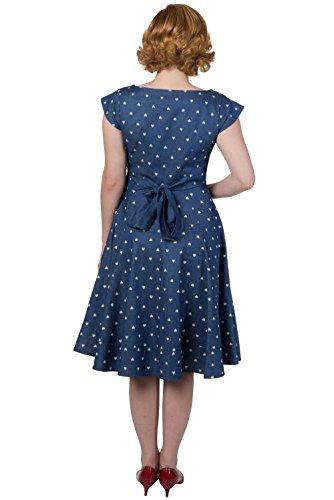 Pencil Blue Banned Vintage Treat Retro Dress Sweet 6wIqazxZ