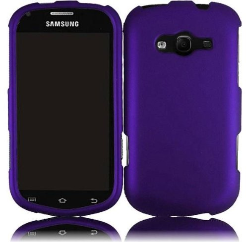(Bundle Accessory for Virgin Mobile, Sprint Samsung Galaxy Reverb M950 - Purple Hard Case Protective Cover + Lf Stylus Pen + Lf Screen Wiper)