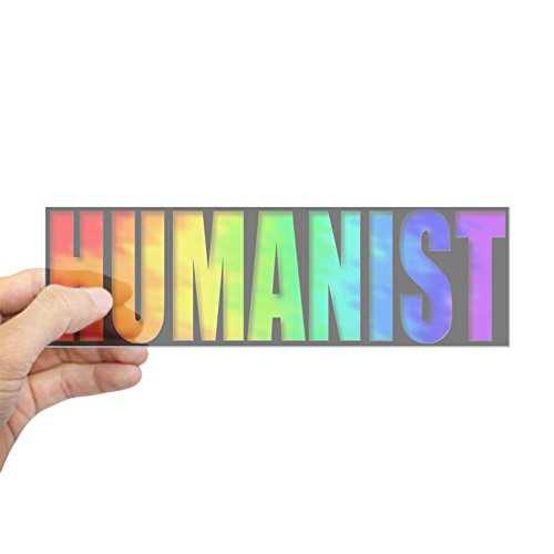 CafePress Humanist Bumper Sticker (rainbow) 10