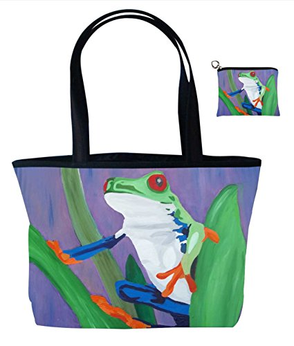 Frog Gift Set Shoulder Bag and Coin Purse- Support Wildlife Conservation - Read How - From My Original Painting, Kaleidoscope