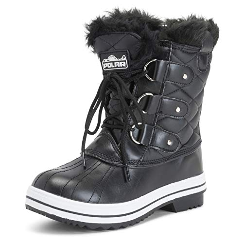 Polar Womens Snow Boot Quilted Short Winter Snow Rain Warm Waterproof Boots - 9 - BLL40 YC0023