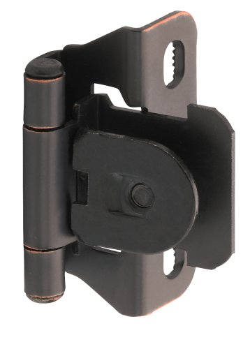 Hinges Demountable (Amerock BP8715ORB 1/4 in (6 mm) Overlay Single Demountable, Partial Wrap Oil-Rubbed Bronze Hinge - 2 Pack)
