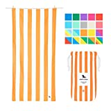 Dock & Bay Microfibre Travel Towels for Beach - Ipanema Orange, Extra Large (200x90cm, 78x35) - Lightweight Towel for Camping, Includes Travel Pouch, Portable Travel Accessory