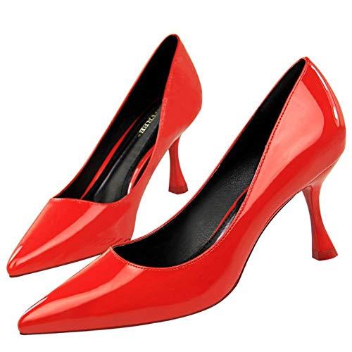 Pumps On Rosso Stiletto Zanpa Donne Slip Heels Moda EcqUYwOA