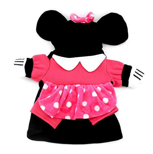 (SMALLLEE_LUCKY_STORE Small Dog Clothes for Girls Boys Cat Dog Mini Mouse Costume Hooded Dots Dress Autumn, X-Small,)