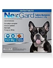 NexGard Antipulgas e Carrapatos para Cães de 4,1 a 10kg 3 tabletes