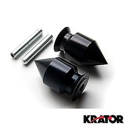 Krator Spike Black Swingarm Spools Sliders Motorcycle For Kawasaki Ninja ZX-9R ZX900 1998-2003