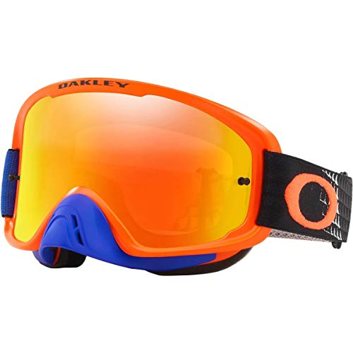 Oakley O Frame 2.0 MX Adult Off-Road Motorcycle Goggles - Dissolve Orange Blue/Fire & Clear