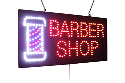 (Barber Shop Sign, Super Bright High Quality LED Open Sign, Store Sign, Business Sign, Windows Sign)