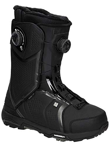 Boots Lace Snowboard Ride - Ride Trident 2018 Snowboard Boots - Men's Black 8.5