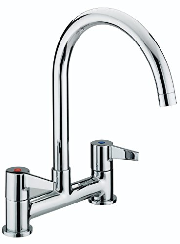 Bristan DUL DSM C Design Utility Lever Deck Sink Mixer - Chrome Plated