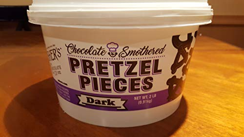 Pretzels Chocolate Asher (Ashers Dark Chocolate Pretzel Pieces, 2 Pound Plastic Tub)