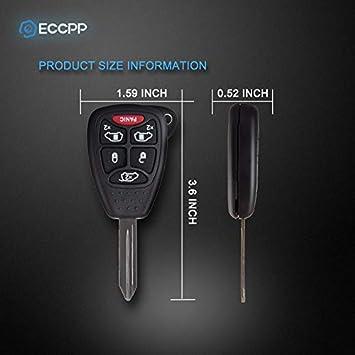 ECCPP Keyless Entry Remote Key Fob 2PCS Uncut 315MHz Replacement fit for 2004 2005 2006 2007 Chrysler Town /& Country Dodge Grand Caravan Dodge Caravan M3N5WY72XX