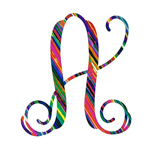 Serape Letter A Vinyl Pattern Monogram Decal for Cup, Tumbler, Laptop, or Car - 3.25 inches