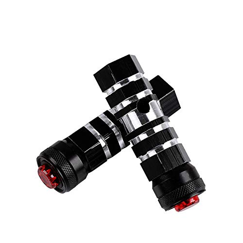 TANCHEN Aluminum Alloy Bike Bicycle Foot Pegs Rest with Safety Warning Light Cycling Rear Pedals