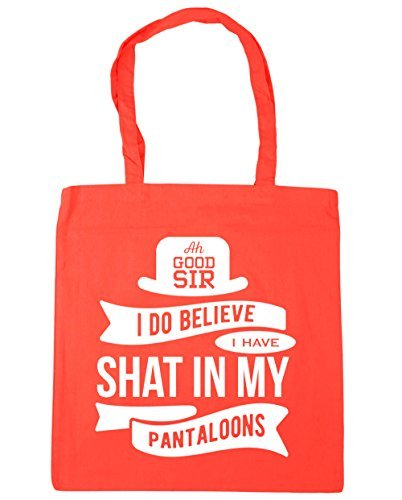 Ah good sir I do believe I have shat in my pantaloons Tote Shopping & Gym & Beach Bag 42cm X 38cm with Handles By Valentine Herty