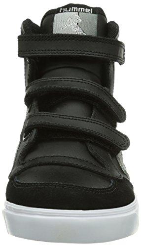 hummel HUMMEL STADIL JR LEATHER LOW - zapatillas deportivas altas de cuero infantil Black/White/Grey 2072