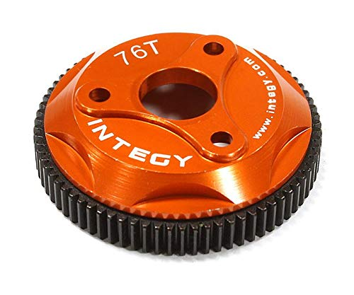 Integy RC Model Hop-ups T8008ORANGE 76T Metal Spur Gear for Traxxas Stampede 2WD, Rustler 2WD & Slash