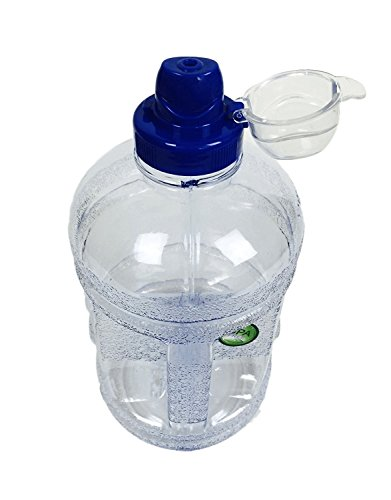 BPA Free Plastic Water Bottle Clear Blue 64OZ/1.89L Half Gallon Drink Gym Canteen Jug Container Camping Hiking Drinking Water Bottle Sports Cap For Easy Drinking From - Label Blue Philippines Price