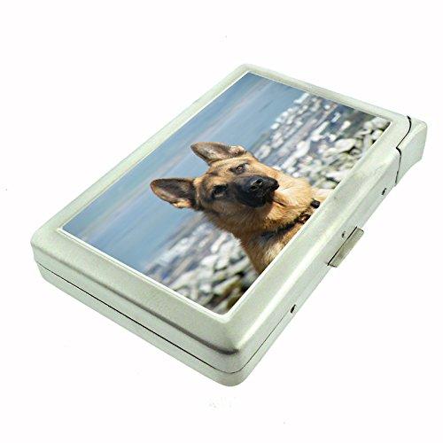 Dog German Shepherd 01 Cigarette Case w Built In - German Cigarette