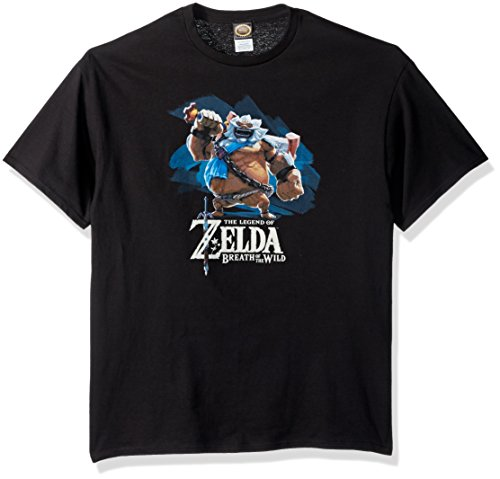 Nintendo Men's Zelda Breath of The Wild Goron Paint T-Shirt, Black, 4X-Large