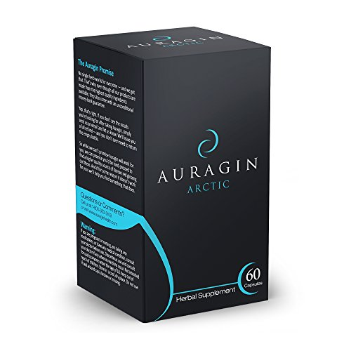Auragin® Arctic: 100% Rhodiola Rosea – 3% Rosavins & 1% Salidrosides – No Additives or Preservatives – Supports Energy, Brain Health & Stress Relief – 500 mg – 60 Capsules