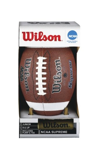 Wilson NCAA Supreme Junior Football with Pump & Tee WTF1624 PT