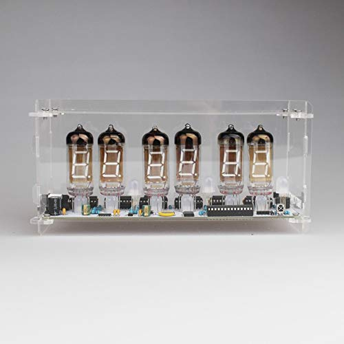 NIXT CLOCK - DIY Kit with Tubes and Case IV-11 VFD Clock Nixie Clock era (Best Nixie Clock Kit)
