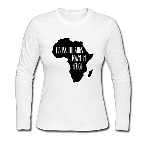 HKH&G55 I Bless The Rains Down in Africa Women's Long Sleeve T Shirt Crewneck Tees by HKH&G55