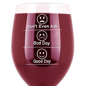Amazon.com | Whimsical Gift World Funny Wine Glass 19 Oz