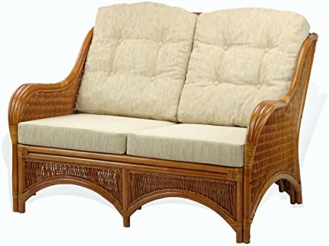 Jam Lounge Loveseat Sofa ECO Natural Rattan Wicker Handmade Design