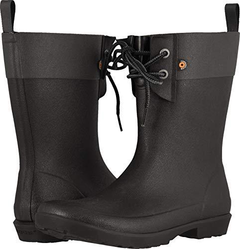 Bogs Women's Flora 2-Eye Boot Black 7 B (Best Novelty Mens Rain Boots)