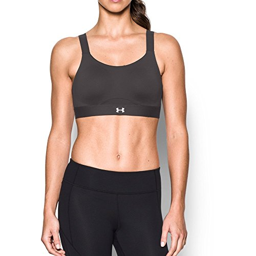 Under Armour Women's Armour Eclipse High Impact Sports Bra, Charcoal/Charcoal, 38C by Under Armour