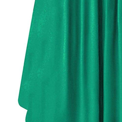 Longueur Femmes Bouton au Robe Cou 4 Avant Masterein Fille d't O en Vrac Genou 3 Manches Robe noir 6xFnwdZ