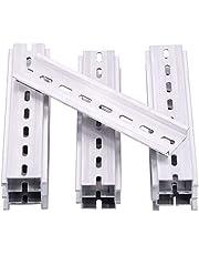 Keadic 15Pcs DIN Rail Slotted Aluminum RoHS Assortment Kit, 6 Inches Long 35mm Wide 7.5mm High