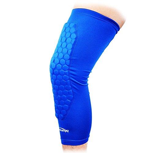 COOLOMG The New Honeycomb Pad Crash Proof Basketball Protective Gear Long Leg Knee Sleeve