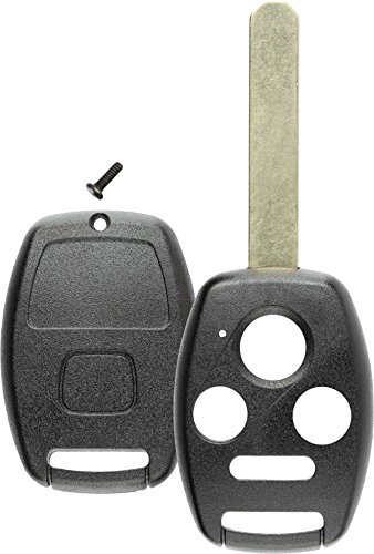 Discount Keyless Replacement Keyless Entry Remote Fob Uncut Key Shell Case Compatible with Honda (2009 Keyless Honda Accord Entry)