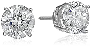 IGI Certified 18k White Gold Lab Created Diamond Stud Earrings (4 cttw, G-H Color, VS1-VS2 Clarity)