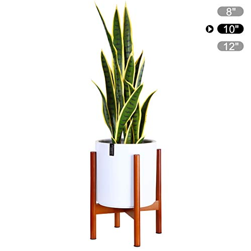 Fopamtri Plant Stand Mid Century Wood Plant Holder for Outdoor Indoor Plants Pot Display, Flower Stand Fits Up to 10 Inch Planter (Plant and Pot NOT Included),Brown (10 Best House Plants)