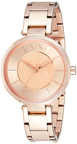 (Armani Exchange Women's AX5317 Rose Gold  Quartz Watch)